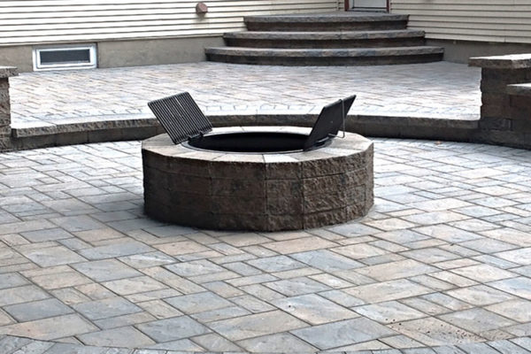 fire pit on patio